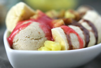 Raw Vegan Banana Split