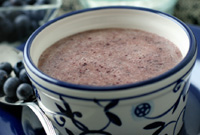 Raw Vegan Blueberry Blue Moon Energy Soup