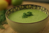 Raw Vegan Citrus Dill Delight Soup