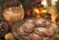 Raw Vegan Eggnog & Pistachio Cranberry Cookies