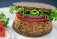 Raw Vegan Hearty Garden Burger