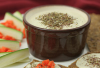 Raw Vegan Hemp Hummus Dip