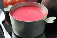 Raw Vegan Lady-in-Red Soup