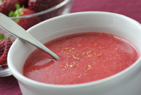 Raw Vegan Princess Pink Strawberry Soup