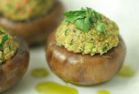 Raw Vegan Savory Protein Stuffed Mushrooms